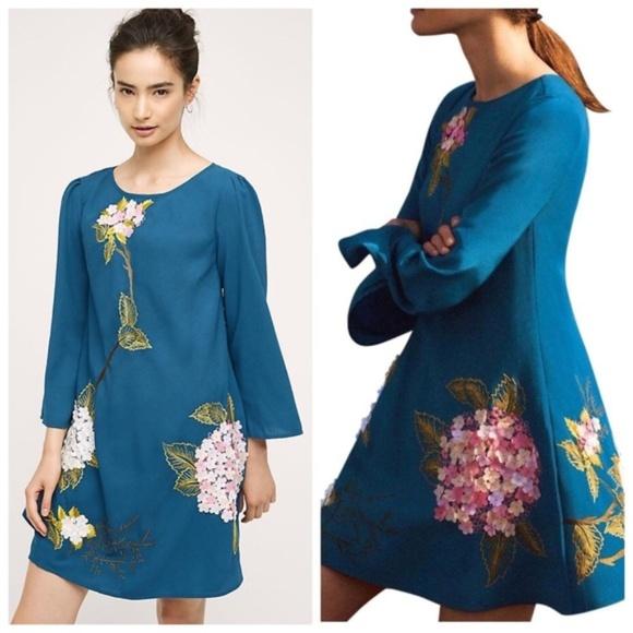 Anthropologie Dresses & Skirts - NWT Varun Bahl Hydrangea Swing Dress - SZ 4